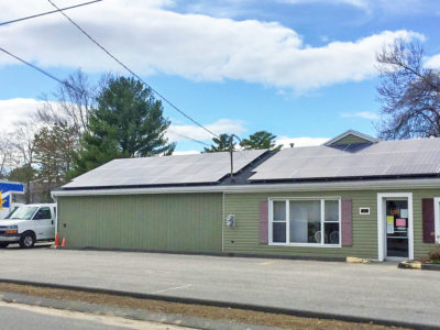 Rooftop solar array on the Saco Food Pantry in Maine