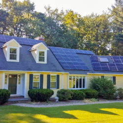 Residential solar array in Harvard, MA