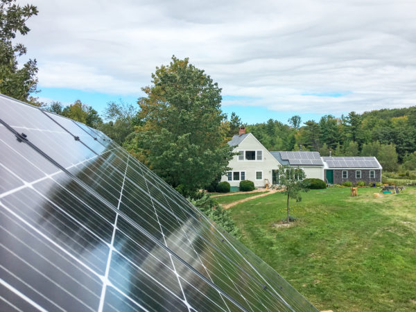 Rooftop solar on the Marples' house and barn